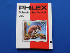 Briefmarken-Katalog Philex 2017 Schweiz- Liechtenstein  Marken  unbenutzt farbig