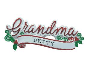 Personalised Chrsitmas decorations Grandma and Grandpa