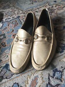 Gucci horsebit loafers cream color 46 D