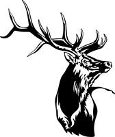 Elk Decal MD #3 Vinyl Truck Window Stickers