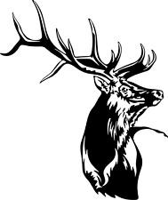 Elk Bull Decal WL #119 Vinyl Truck Window Stickers