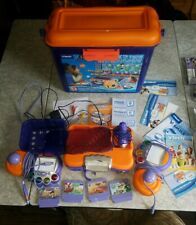 VTech VSmile Learning System Console 2 Controller 5 games carrying case