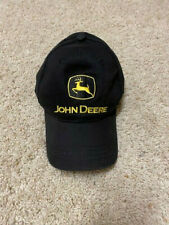 Youth John Deere Baseball Hat Cap in Black - Euc