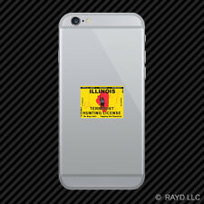 Illinois Terrorist Hunting Permit Cell Phone Sticker Mobile License IL