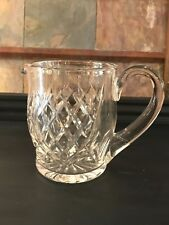 """VINTAGE WATERFORD 5 3/4"""" CRYSTAL LISMORE WATER PITCHER - SIGNED"""