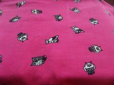 50 x 150 95% BW Baumwolljersey pink für Mädchen  Eulen