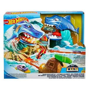 Hot Wheels FNB21 City Shark Beach Battle Play Set