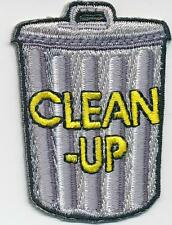 Girl Boy Cub CLEAN UP Garbage Can Fun Patches Crest Badges SCOUT GUIDE litter