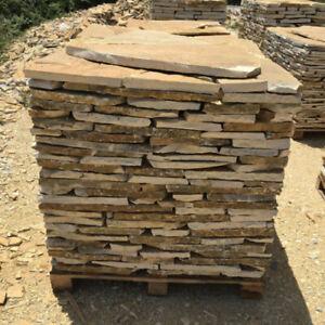 Bruchsteine Steinplatten Garten Steinwand Terrassensteine Polygonalplatten Gelb
