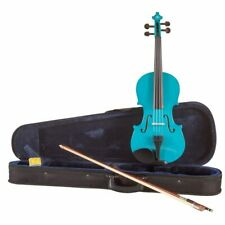 Koda Beginner Violin, 4/4 Size Fiddle, Comes with Case, Bow & Rosin - BLUE