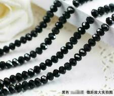 Hot New 8mm 33pcs Faceted Rondelle Bicone Crystal Jewelry Beads Black