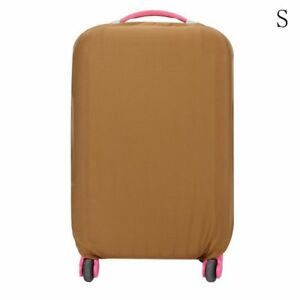 COFFEE COLORED Trolley Travel Bag Protector Suitcase Cover Luggage Dust Proof