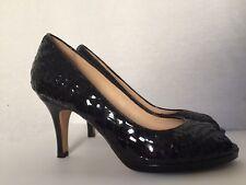 Cole Haan Nikeair Shoes Women's 9.5 Basketweave Patent Leather Heels