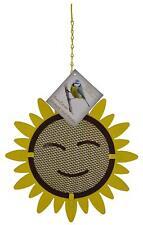 Nut Feeder Bird Feeder Smiley Face Sunflower Shaped Wild Garden Bird Feeder