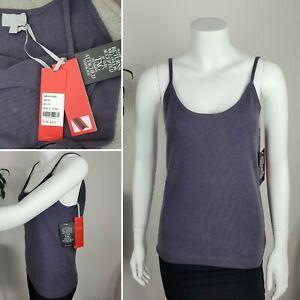Pure Collection 100% Cashmere Camisole BNWT UK 12 Slate Grey Purple Vest Cami