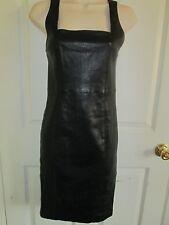 SIZE 4 ALICE + OLIVIA BLACK LEATHER DRESS $798