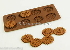 STEAMPUNK GEARS Cogs Chocolate Candy Silicone Bakeware Mould Cake Decorating