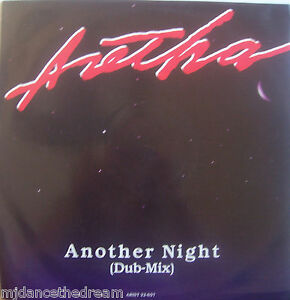 """ARETHA FRANKLIN ~ Another Night (Dub Mix) ~ 12"""" Single PS"""