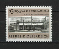 AUSTRIA 1963  MNH  SC.B305 Railroad Exit,post office,stamp day