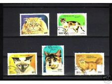 0911++LAOS   SERIE TIMBRES  CHATS  N°2