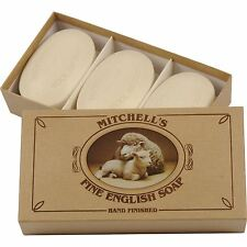 Mitchell's Wool Fat Lanolin Oval Bath Soap Gift Set (3 Soaps)