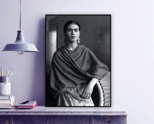 Frida Kahlo Vintage Photograph Print / Black & White / Wall Decor