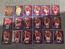 Match Attax 16/17 Full Set Manchester United Team + 6 Extras Inc 1 Limited + MOM