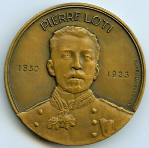 France Mail Liner Pierre Loti Medal By Lavrillier 1953 With Box