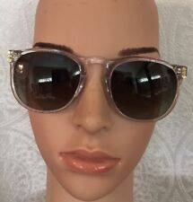 90e92aa36d98 Linda Farrow Square Luxa Sunglasses Brown Tortoise Arms Clear Frame