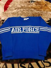 VTG 80s Cliff Engle Air Force Falcons Wool Sweater Mens XL Football Jersey 90s