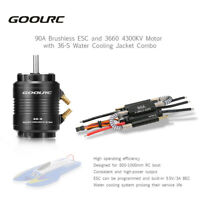 90A ESC and 3660 4300KV Motor +Water Cooling Jacket  for 800-1000mm RC Boat Q8W9