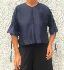 EUDON CHOI Navy Blue Silk Blend *BETTY* Top UK10 £475