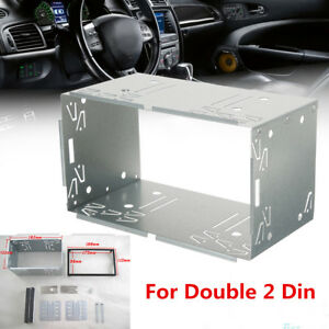 Double 2 Din Fascia Panel Mounting / Installation Frame Kits For Car Stereo DVD