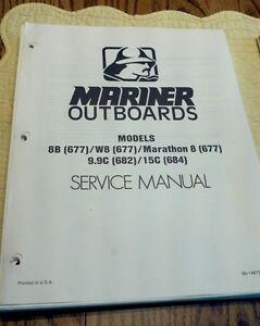 Maintenance & Service Manual Mercury Mariner Outboard Motor 8. 9.9 & 15 HP PDF