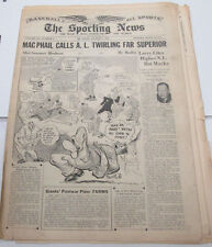 The Sporting News Newspaper  Jimmie Dykes  August 9, 1945   101014lm-eB2