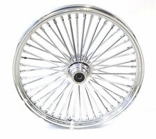 48 King Spoke Fat 23 X 3.5 Front Wheel Rim 2000-2007 Touring Chrome Single Disc
