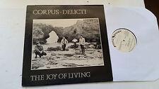 CORPUS DELICTI joy of living Lp mystic records ORIG '84 vinyl synth art punk rar