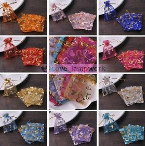 20//40//60//100PC Organza Gift Wedding Favor Bags Pouches Candy Wraps Jewelry Pouch