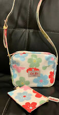 Cath Kidston White Floral Mini Shoulder Bag With Matching Wallet Auth