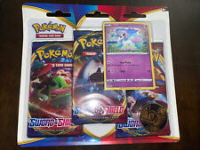 🔥 Pokemon Sword & Shield 3 Pack BLISTER Booster Cards + 1 Coin Galarian Ponyta