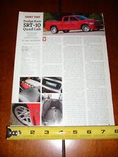 2005 DODGE SRT-10 MUSCLE TRUCK V-10 - ORIGINAL ARTICLE