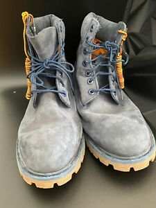 """TIMBERLAND Men's 6"""" Blue Suede Hiking Outdoor Boots 13M"""