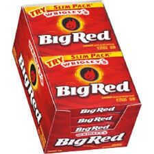 Wrigley's Big Red Slim Pack chewing-gum (Pack de 10)