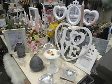 Deko Paket Landhaus Shabby Chic Vase Bilderrahmen Teelicht 10 schöne Artikel