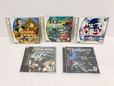 Lot of 5 Sega Dreamcast Games Complete - Egg, Sonic Adventure, Tomb Raider Cib!