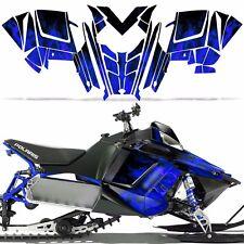 RUSH RMK Decal Wrap Graphic Kit Sled Snowmobile Polaris 600/800 2011+ ICE BLUE