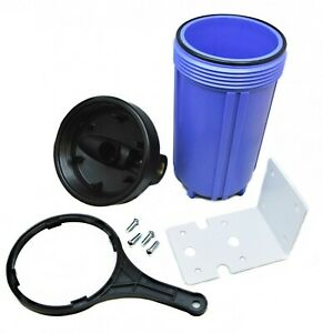 10 Inch Jumbo Water Filter Housing Big Blue High Flow Whole House System Unit