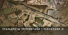 Russian Original Camo Weapon Stencils Set TROPENTARN / FLECKTARN D by Chameleon