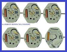 New! 6 X Harley Ronda  Quartz  Movements 763 (3 Hands) Watch Part Repair Bulova