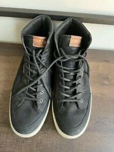 Ecco Mens Chukka High Top Black Sneaker Shoes sz 50/16M